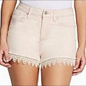Jessica Simpson Pink Shorts With Crochet Detail